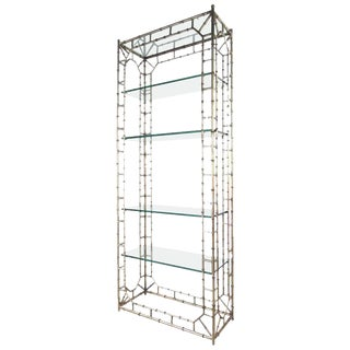 Faux Bamboo Mid-Century Etagere