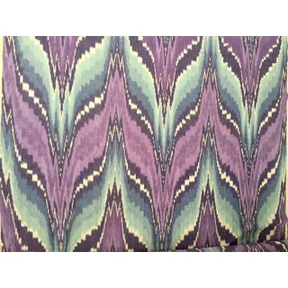 "Ikat Purple & Blue Cotton Fabric - 188"" X 52"""