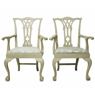 Chippendale Dining Chairs - A Pair