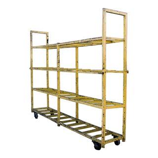 Industrial Rolling Display or Storage Rack, Circa 1990