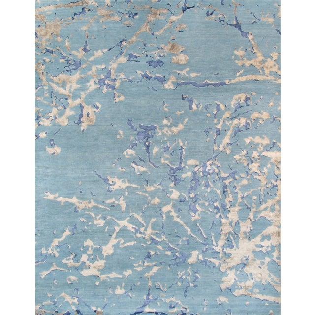 "Pasargad Modern Silk & Wool Area Rug - 6'3"" X 9' - Image 1 of 3"