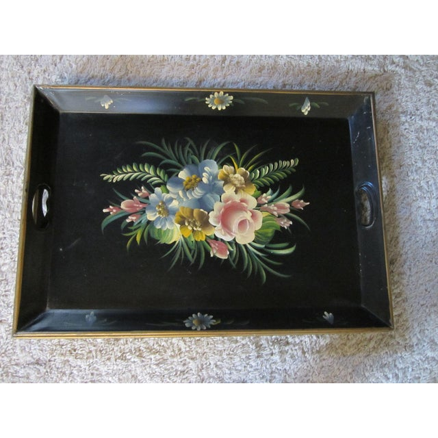 French Tole Ware Serving Tray - Image 6 of 8