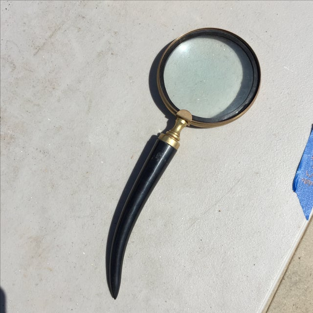 Black Horn Magnifying Glass - Image 2 of 4