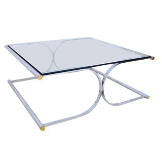 Chrome and Glass Coffee/Cocktail Table