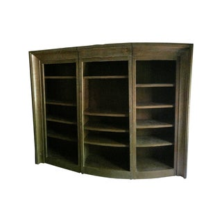 Guido Zichele Three-Section Solid Oak Bookcase
