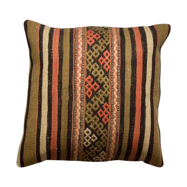 Turkish Kilim Striped Pillowcase - Image 1 of 3