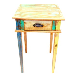 Side Table Eco-Friendly Reclaimed Solid Wood