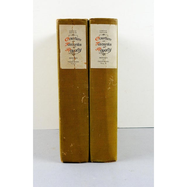 Courtiers and Favourites of Royalty, Memoirs of Talleyrand 2 Volumes - Image 2 of 7