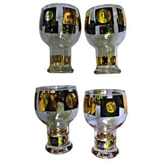 Gold Coins Beverage Glasses - Set of 4