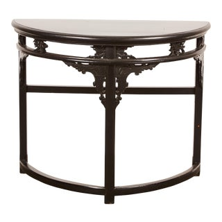 18th Century Chinese Demi-Lune Table