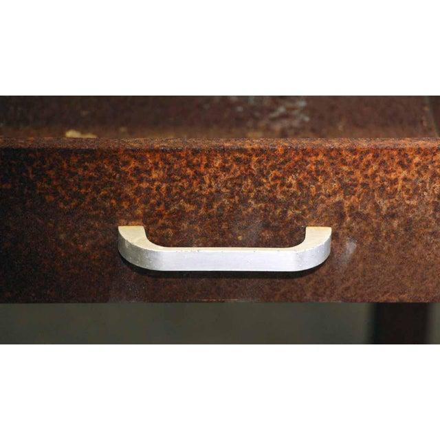 Rusted Metal Industrial Desk - Image 5 of 9