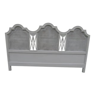 Vintage Gustavian Caned King Headboard