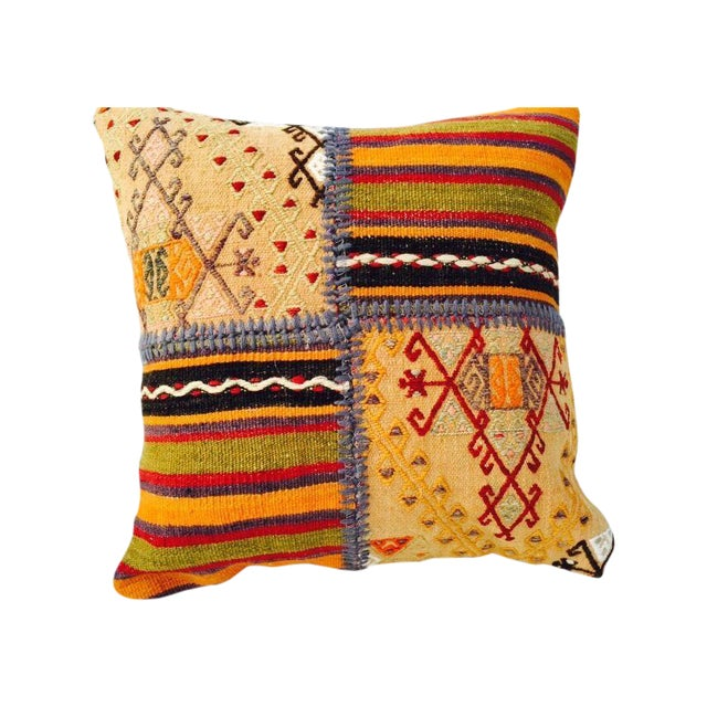 VINTAGE Turkish Kilim Pillow - Image 1 of 5