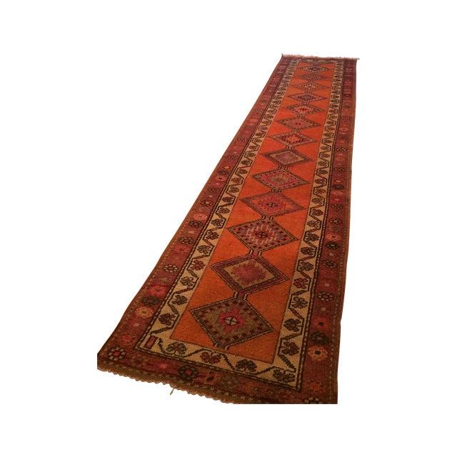 Image of Vintage Afghan-Style Hallway Runner