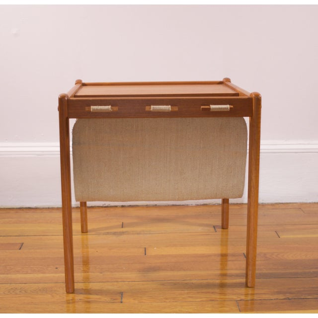 Mid-Century Furbo Danish Teak Side Table With Magazine Holder - Image 3 of 10