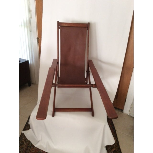 Antique Ocean Liner Folding Deck Chair - Image 6 of 11