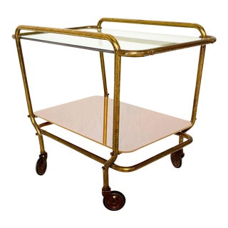 Mexican Brass Service Cart