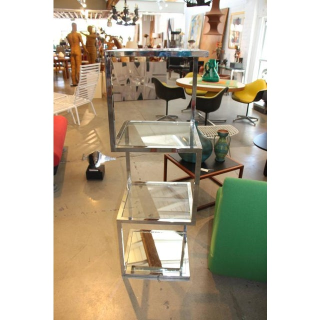 Image of Unusual Chrome Etagere with Asymmetrical Form