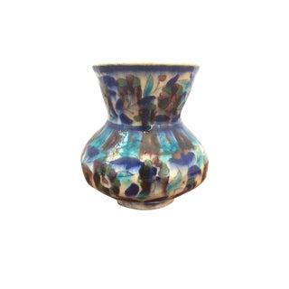 Vintage Jerusalem Palestine Iznik Armenian Pottery Ceramic Vase