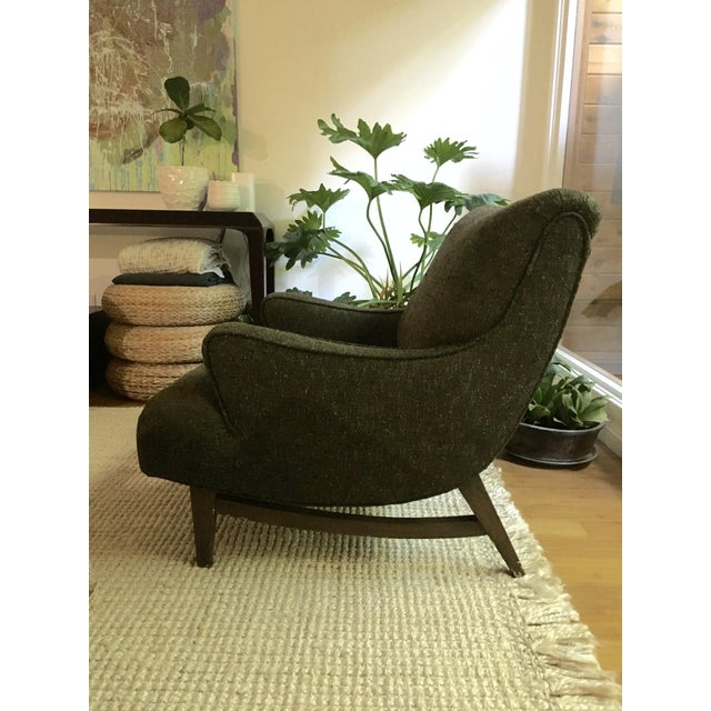 Mid-Century Modern Upholstered Lounge Chair - Image 3 of 9