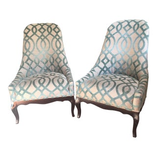 French Provincial Reupholstered Slipper Chairs- A Pair