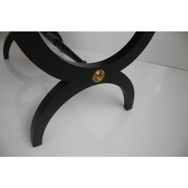 Charlotte Michigan Company Black & Brass Bench - Image 9 of 10