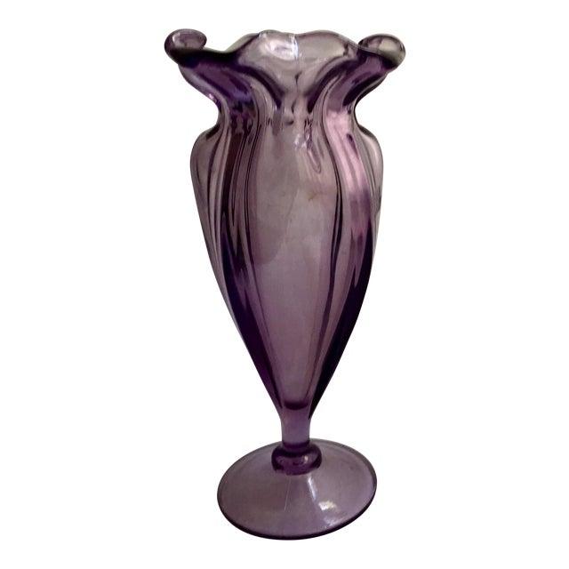Art Nouveau Purple Tulip Vase - Image 1 of 4