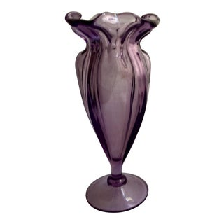 Art Nouveau Purple Tulip Vase