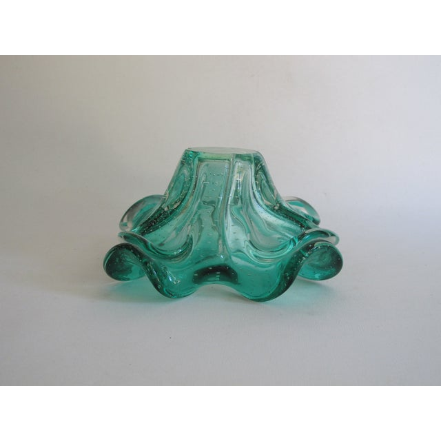 Teal Organic Form Glass Bowl - Image 8 of 8