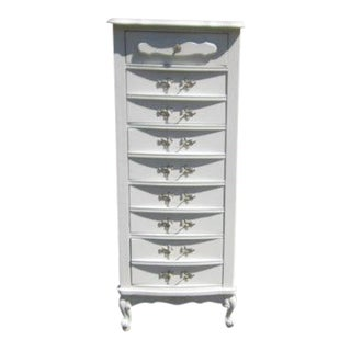 Chalk Painted White French Provincial Dresser