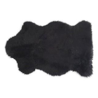 "Black Sheepskin Rug - 2'4"" x 3'4"""