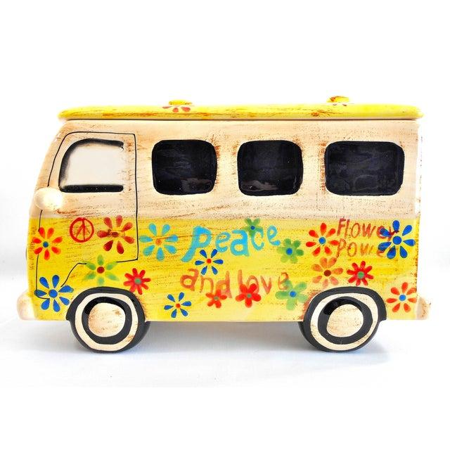 Yellow Hippie Van Ceramic Cookie Jar - Image 6 of 10