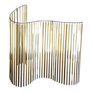 Curtis Jere Kinetic Wave Form Chrome & Brass Wall Sculpture
