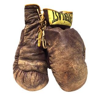 Vintage Leather Everlast Boxing Gloves