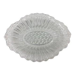 Vintage Cut Glass Dish