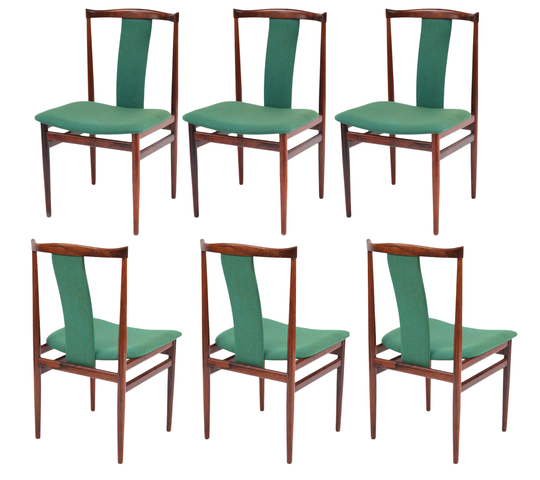 sculptural rosewood dining chairs set of 6