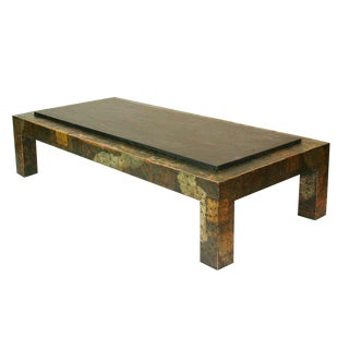 Large Paul Evans Patchwork and Slate Coffee Table