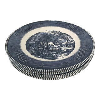 Royal China Currier & Ives Dinner Plates - Set of 5