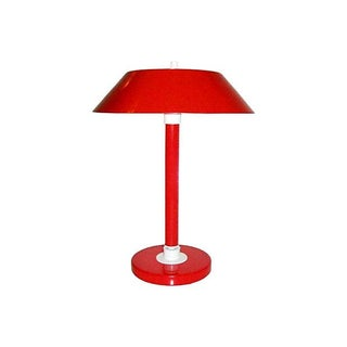 Mid-Century Red Metal Desk Lamp