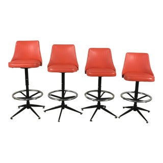 Retro Bar Stools - Set of 4