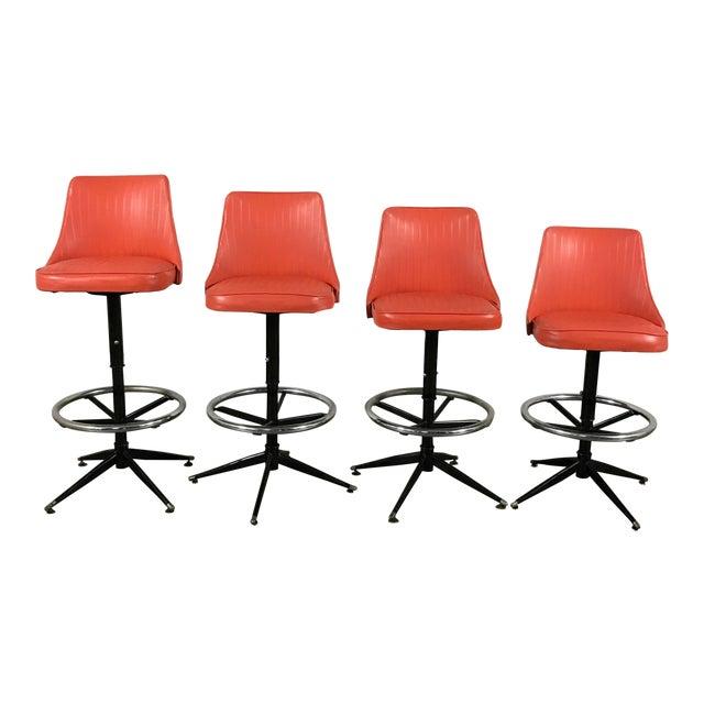 Image of Retro Bar Stools - Set of 4
