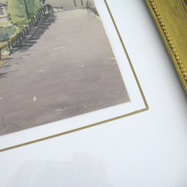 Original French Watercolor Painting 1930s - Image 3 of 5