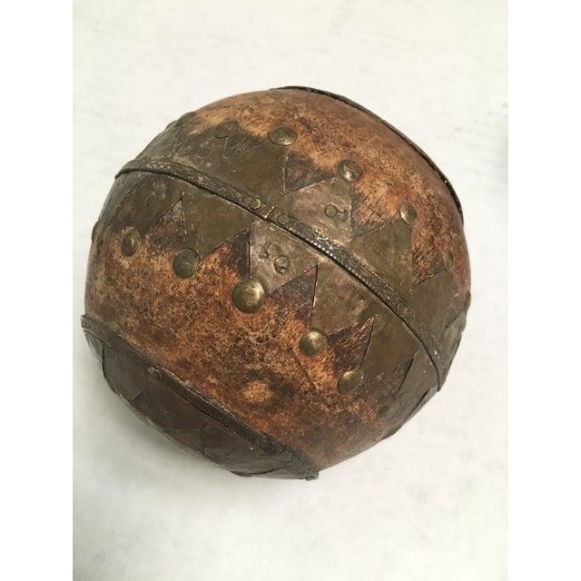 Antique Wood & Metal Bocce Balls - Set of 3 - Image 6 of 7