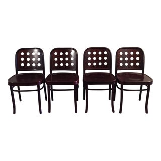 Design Within Reach Walnut Dining Chairs - Set of 4