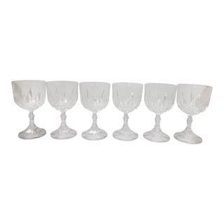 Cut Crystal Wine Glasses - Set of 6