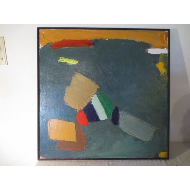 Image of Large Abstract Painting by Ted Turner