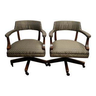 Myrtle Desk Company Rolling Chairs - A Pair