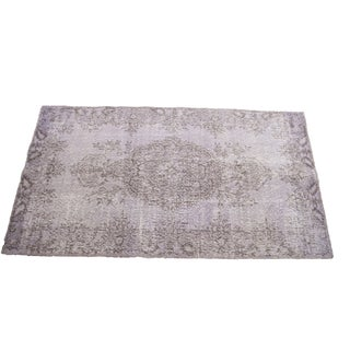 "Turkish Overdyed Lilac Rug - 6'7"" x 3'7"""