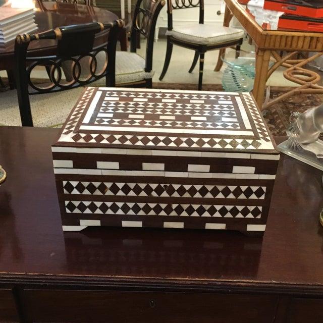 Image of Black & White Bone Inlay Box