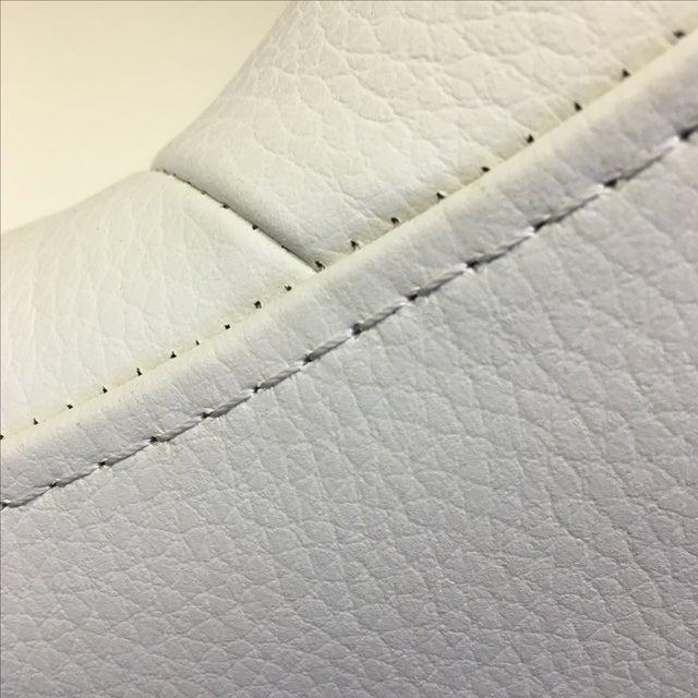 Dakota Jackson White Leather Marina Odile Chair - Image 5 of 10